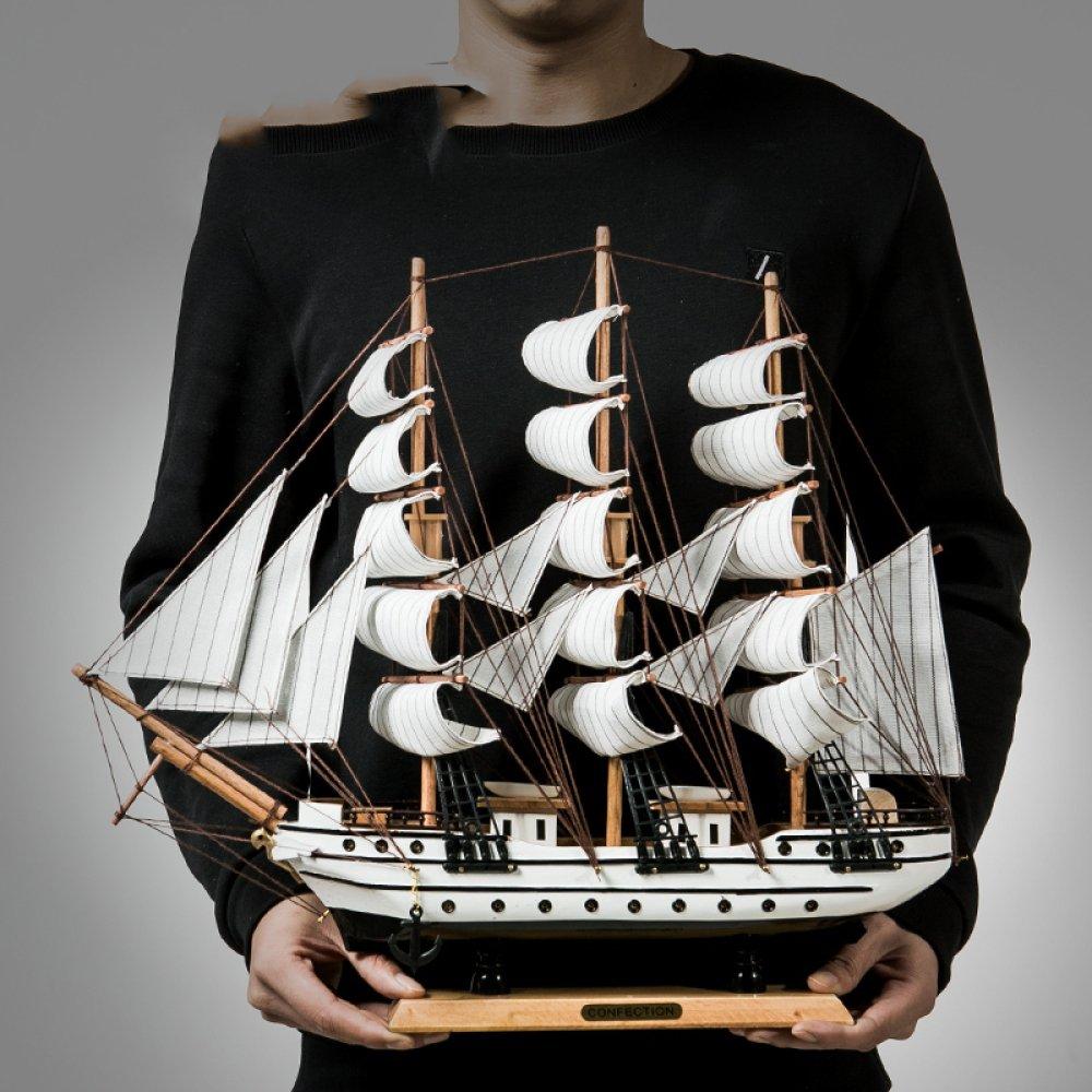 BCX Decorazione del desktop - Decorazione del modello di barca a vela - Ingresso soggiorno - Decorazione della casa artigianale - Decorazione artigianale moderna,bianca,ornamenti