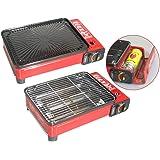 XXL Cuisinière de camping Cuisinière à gaz Portable cuisinière à gaz RS-4030 Barbecue au gaz Brûleur - Rouge (rouge), Uniquement la cuisinière
