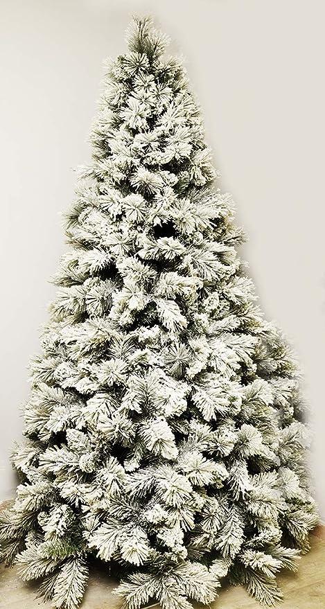 Albero Di Natale Innevato.Albero Di Natale Alfa White Innevato Apertura Ramo Per Ramo 180 Cm Amazon It Casa E Cucina