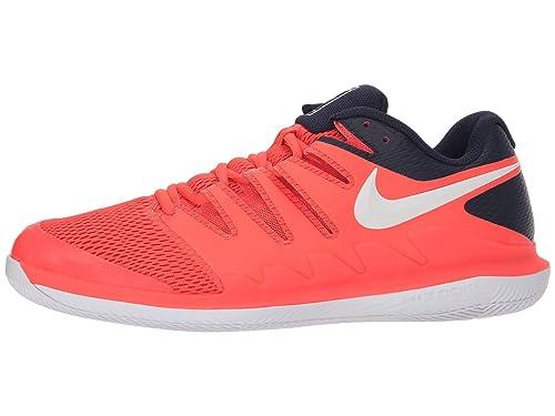 18551d01fdd83 Nike Men's Zoom Vapor X Tennis Shoes (10 M US, Bright  Crimson/White/Blackened Blue)