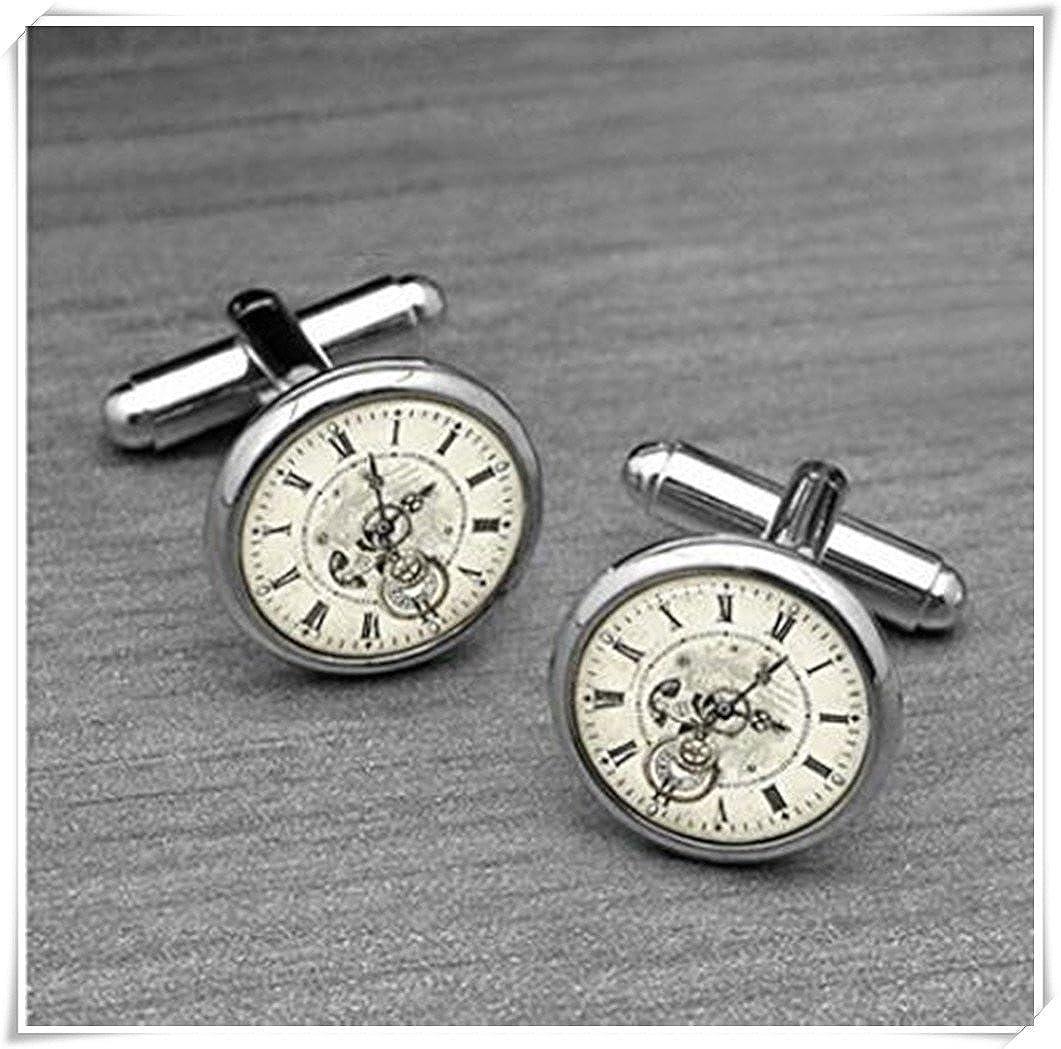 Vintage Steampunk Clock Cufflinks CX28