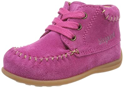 Bisgaard Baby Mädchen Lauflerner Slipper, Pink (Pink), 25 EU