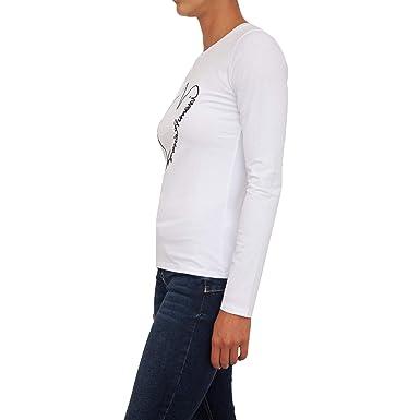 0cc05f886116 Emporio Armani T-Shirt Femme à Manches Longues 6Z2T84 2JQAZ  Amazon.fr   Vêtements et accessoires