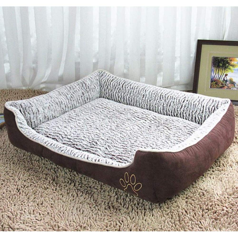 Brown as photo XL CZHCFF Dog Bed for Large Dogs Waterproof Detachable Lounger Sofa Cat Bulldog Bedding Kennel Mechanical Wash Pet Products Extra Size Bed