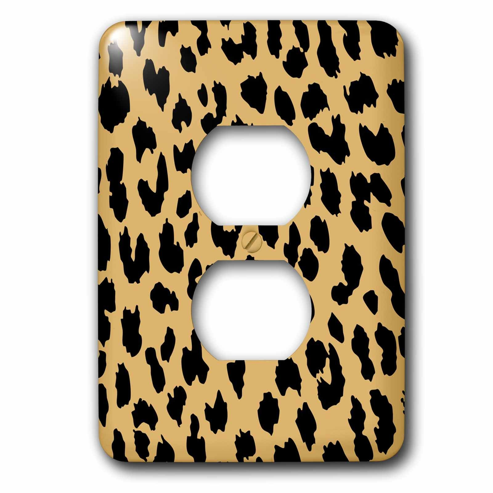 3dRose  lsp_63490_6 Cheetah Animal Print Art 2 Plug Outlet Cover