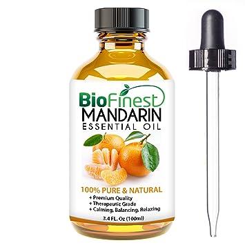 Aceite ensencial de mandarina Biofinest 100 % puro ideal para relucir la piel, reducir el