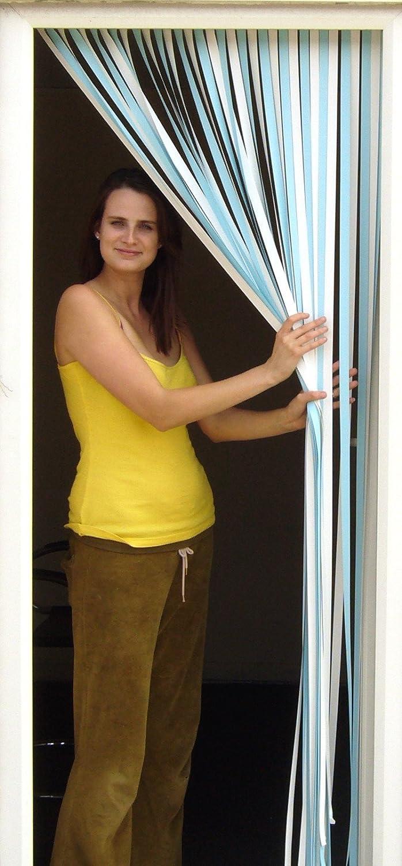 Slat type Door Curtain,Bug Blind,Fly Blind,Strip Blind-SKY BLUE & WHITE Holland Plastics (UK) Limited Sky blue/white SLAT