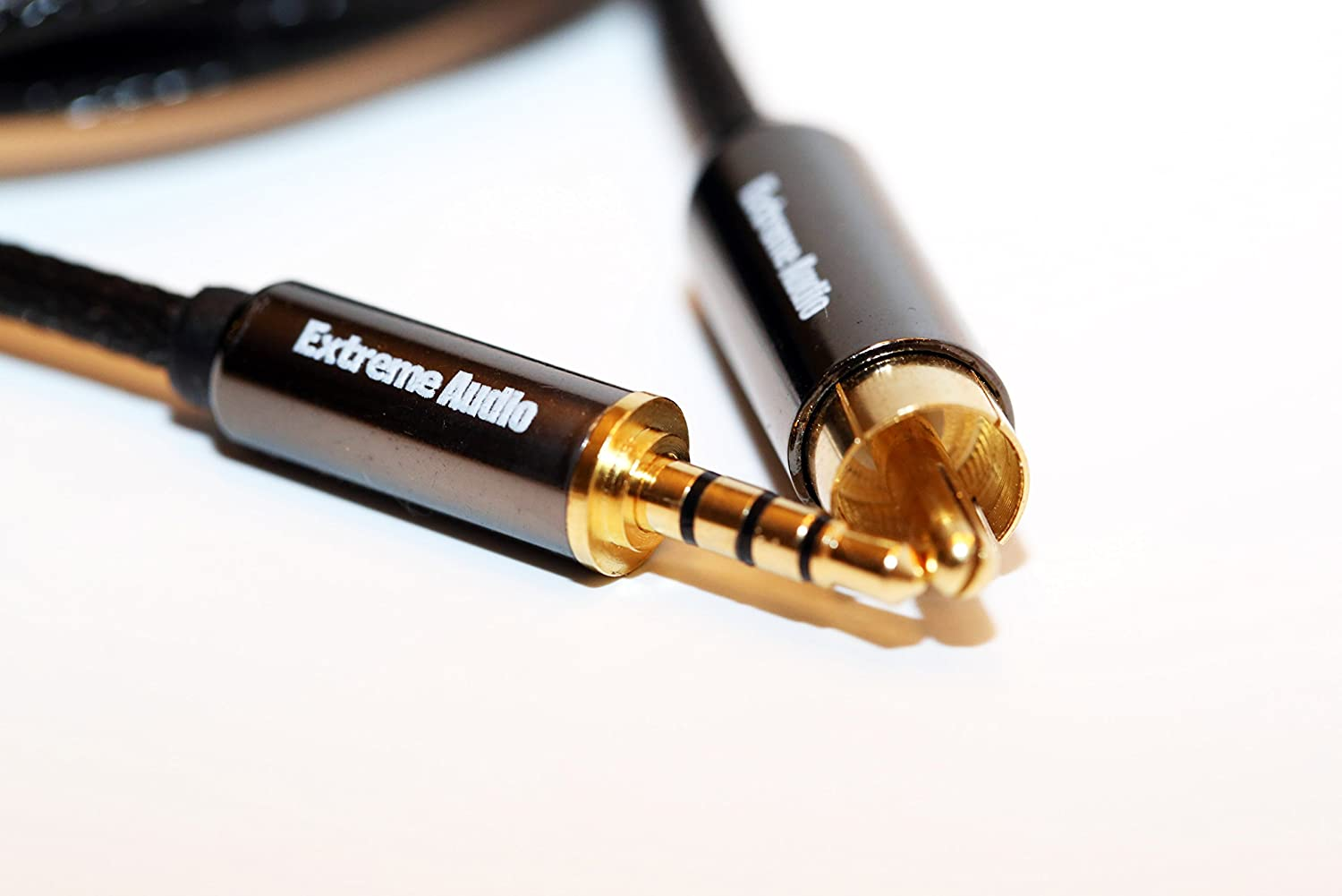 Extreme Audio 3.5mm Stereo (4 Pole) to RCA Digital Coaxial Audio Connection Cable FiiO X3 2nd Generation, FiiO X5 2nd Generation Fiio X7 (6ft) XAUD-35STEREO-RCA-COAX