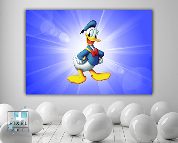 Amazon.com: Donald Duck Disney Character Kids Canvas Print Wall ...