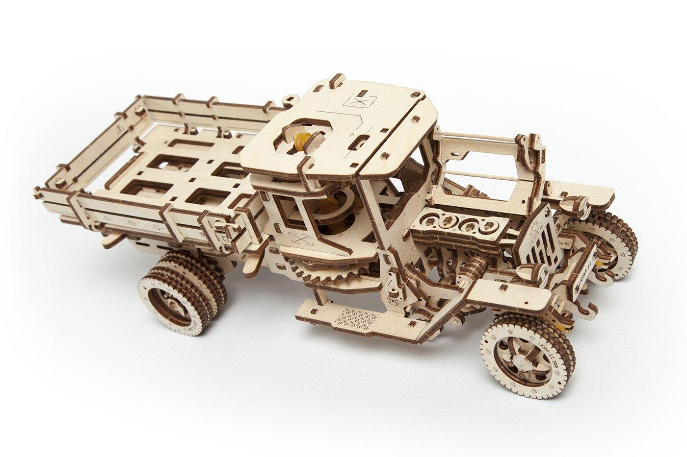 S.T.E.A.M. Line Toys UGears Mechanical Models 3-D Wooden Puzzle - Mechanical 11 Truck 1920's Model T 5