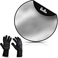 GuGo Fire Pit Mat 92cm(36inch) with BBQ Gloves - Round Fireproof Grill Mat - 3 Layer Heat Resistant Pad for Outdoor…