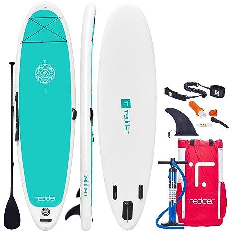 redder Tablas Paddle Surf Hinchables Doble Capa Zen Yoga Tabla Stand Up Paddle - Kit con Inflador, Carbono y Fibra de Vidrio Pala Ajustable 3 Piezas, ...