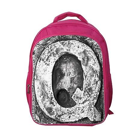 d19815c558d3 iPrint School Bags Kid's Backpacks Custom,Letter Q,Baroque Q Renaissance  Style Rococo Grammar