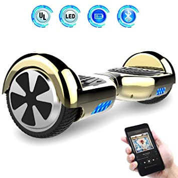 "Hoverboards 6.5"" Balance Board Patinete Eléctrico Scooter Talla LED 350W*2 (Yellow,"