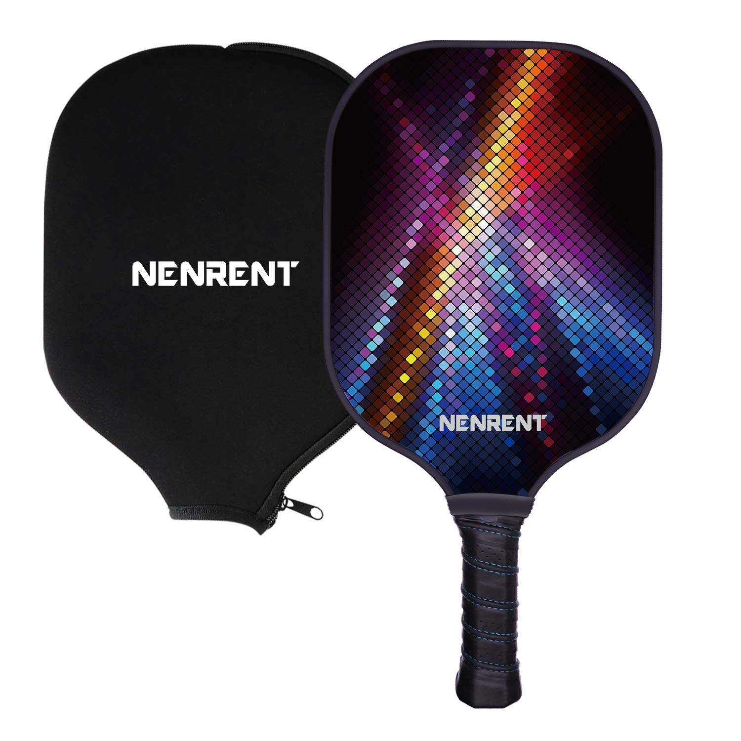 NENRENT Pickleball Paddle-Premium Graphite Pickleball Racket Honeycomb Composite Core Paddle Set Lightweight Carbon Fiber Pickleballs Racquet Edge Guard Ultra Cushion Grip Paddle with Cover 7.8-8 OZ by NENRENT