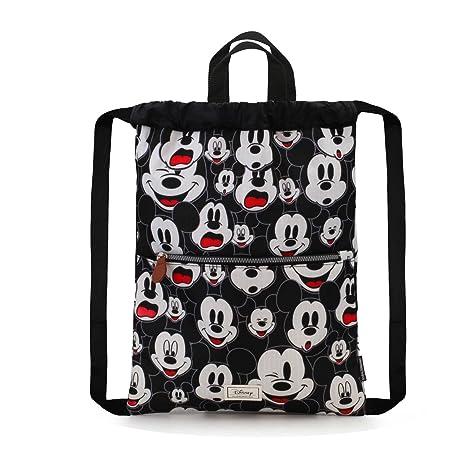 Karactermania Disney Classic Mickey Visages Bolsa de Cuerdas para El Gimnasio, 42 cm, Negro