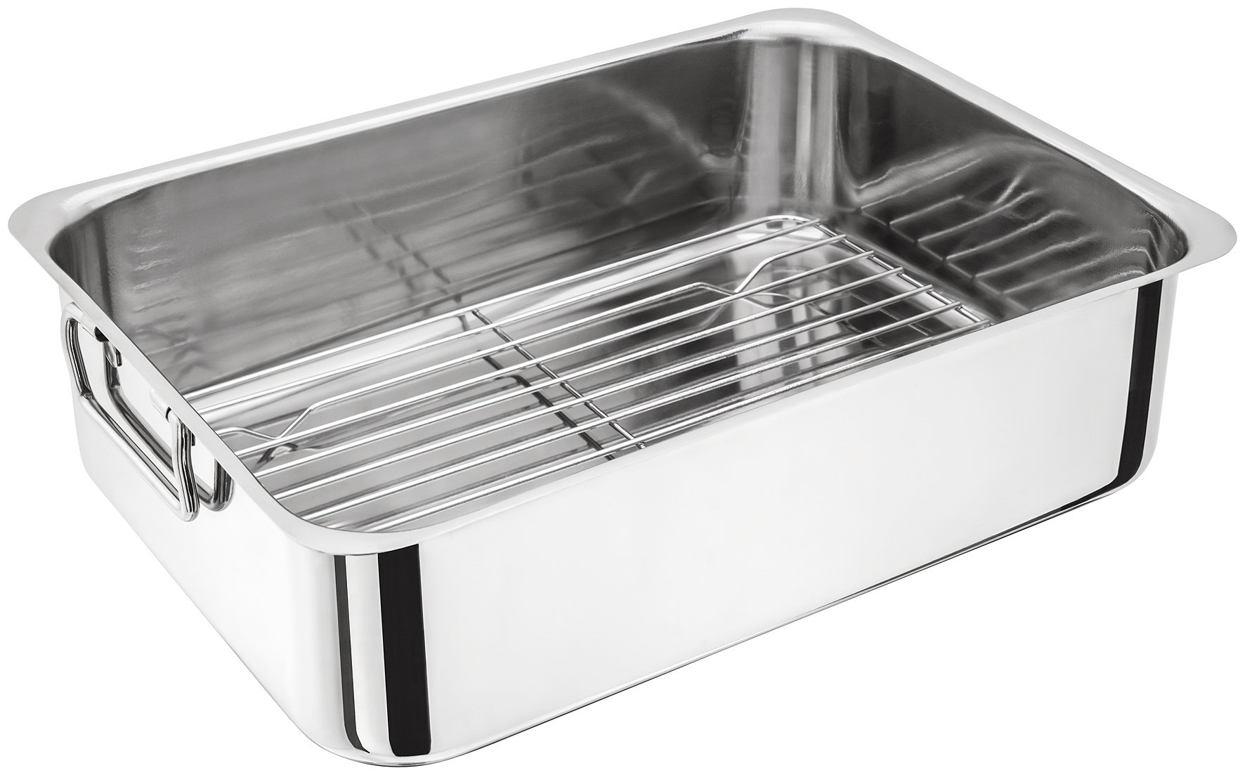 Judge Stainless Steel Chicken Turkey Beef Roasting Tray Pan Tin With Rack 37cm/14.5'' - H045