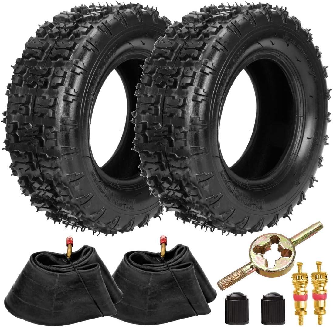 FVRITO 13x5.00-6 Tires and Inner Tube for Razor Dirt Quad Yerf Dog Motovox MGK10 CK100 SK100 Go Kart TaoTao E1-350 E1-500 E2-350 E2-500 ATV 4 Wheeler Lawn Mower Yard Tractors Garden Hand Trucks 2 pack