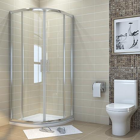 Five Box Doccia.Elegant 800 X 800 Mm Quadrant Shower Cubicle Enclosure Sliding Door 6mm Glass