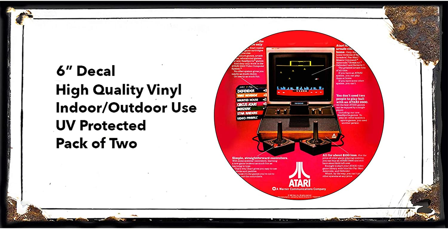 ATARI Square Logo Vnyl decal sticker fo Car Wall or Laptop Multiple Sizes