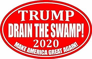 TRUMP DRAIN THE SWAMP 2020 DECAL WINDOW BUMPER STICKER POLITICAL