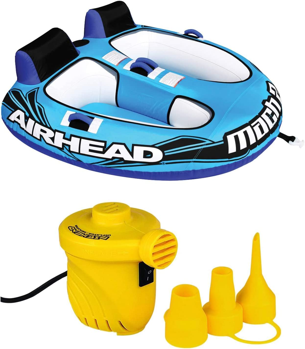Airhead Air Pump 12V For All Tubes Towables Inflatable Tube Pool Float Boat