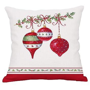 Amazon.com: YeeJu - Funda de cojín de lino y algodón, diseño ...
