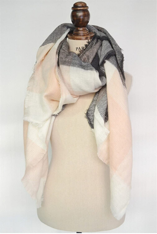 Lalang Femme Echarpe Foulard Châle Plaid Carreaux Etole Chaud Hiver  140 140cm (03)  Amazon.fr  Vêtements et accessoires fd63a7d2c20