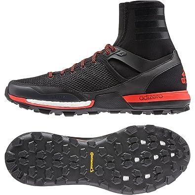 Mens Shoes adidas Outdoor Adizero XT 5 Boost Black/Dark Grey/Solar Red