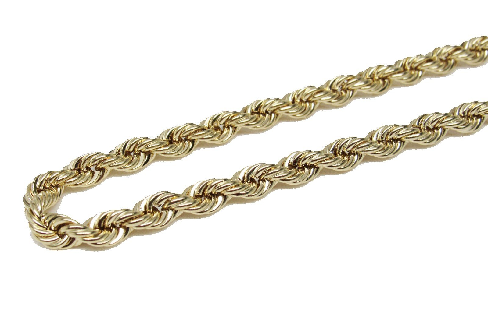 10K Yellow Gold Italian Rope Chain 20'' 5mm wide Hollow by Melano Creation