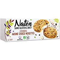 NATEN Cookies Avoine Chocó Noisettes 120 g - Pack de 6