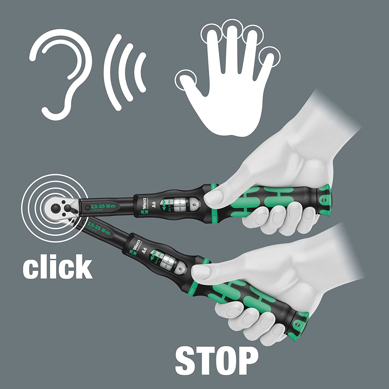 1//4 Hex Drive Wera Click Torque A 6 Adjustable Torque Wrench 2.5-25 Nm 05075605001