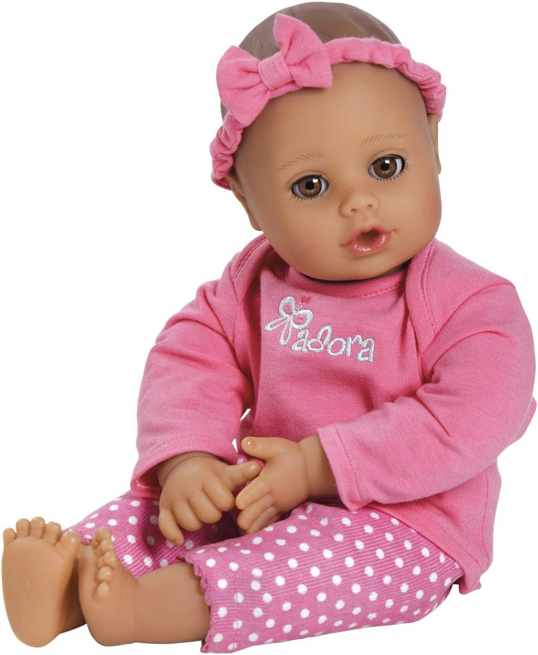 """Adora Playtime Collection Pink 13"""" Soft Baby Doll with Bottle"""