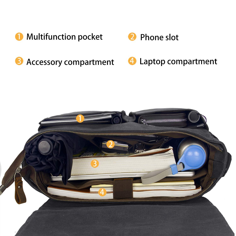 9ab29b3a1f YANGYANJING【Imperméables】Sacoche Ordinateur Portable 15-15.6 Pouces Sac  Bandoulière Unisexe pour École/Collège/Travail/Voyage: Amazon.fr: Bagages