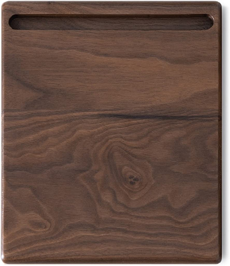 JUIANG Mouse Pads Thicken Black Walnut Wood Mobile Phone Stand Creative Office Wireless Standard Pad