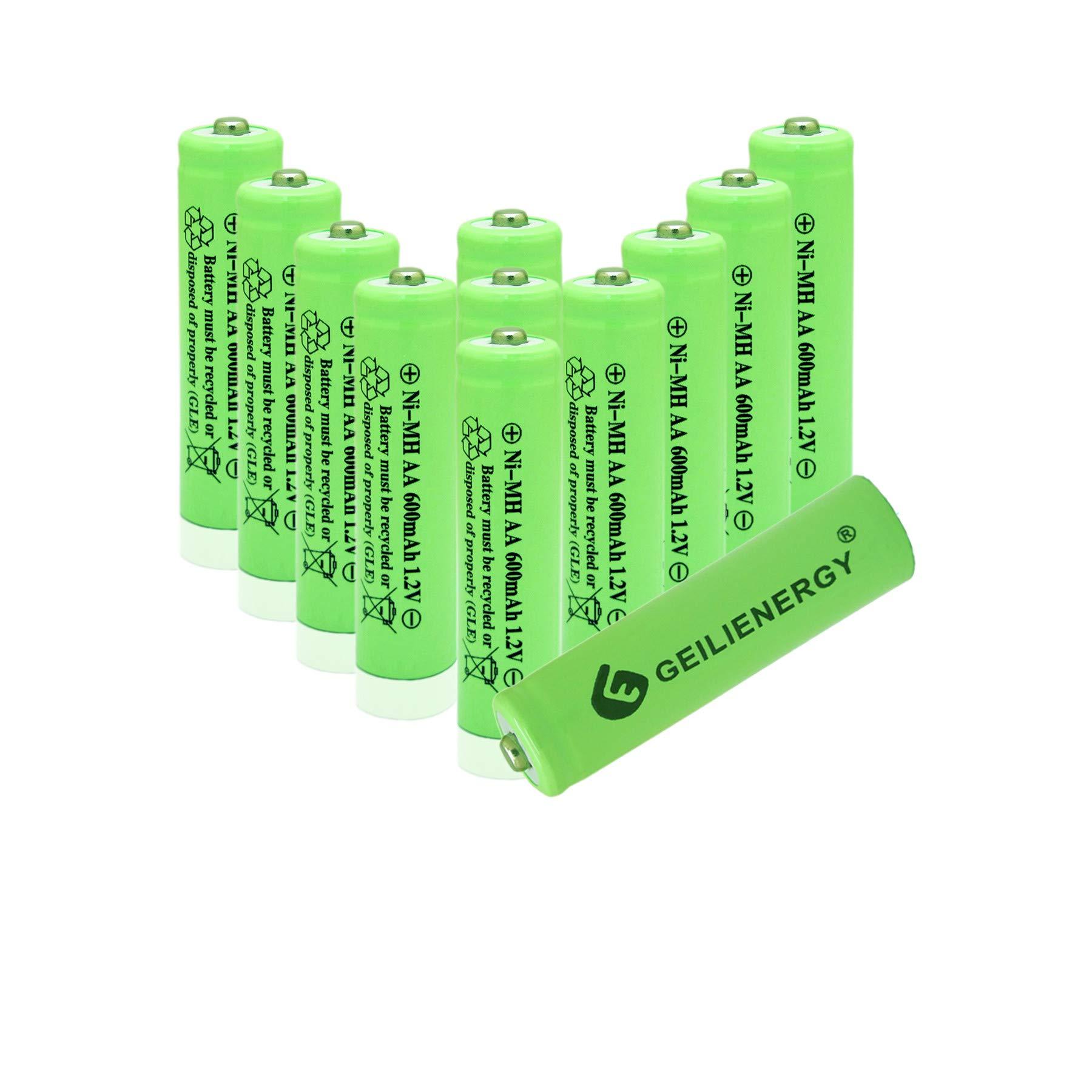 Pack of 20 RELIGHTABLE AA NiMh 600mAh 1.2V Rechargeable Batteries for Solar Garden Lights