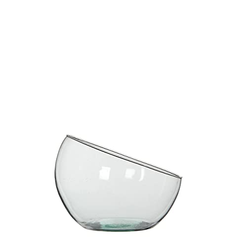Mica Decorations 146873Boly Glass Bowl/Vase, Glass, Clear, 19.5x 19.5x 18cm