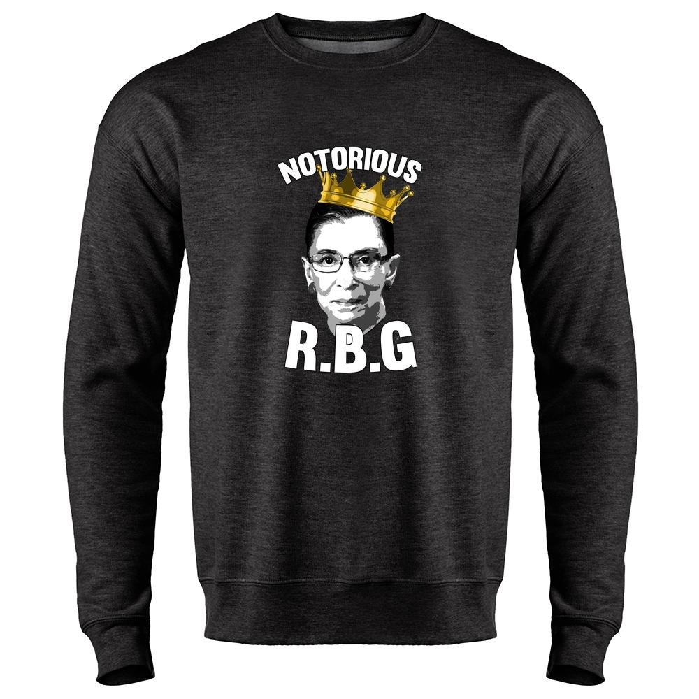 Notorious R.B.G. Funny Mens Fleece Crew Neck Sweatshirt