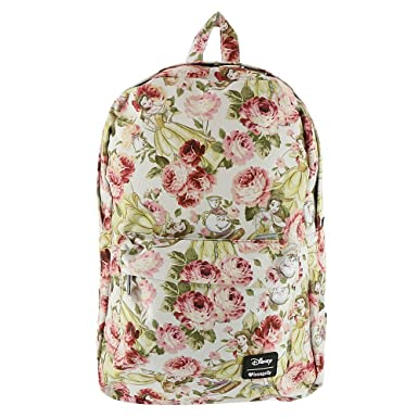 7b1a28e89de7 Image Unavailable. Image not available for. Color  Loungefly x Disney Belle  Floral Backpack