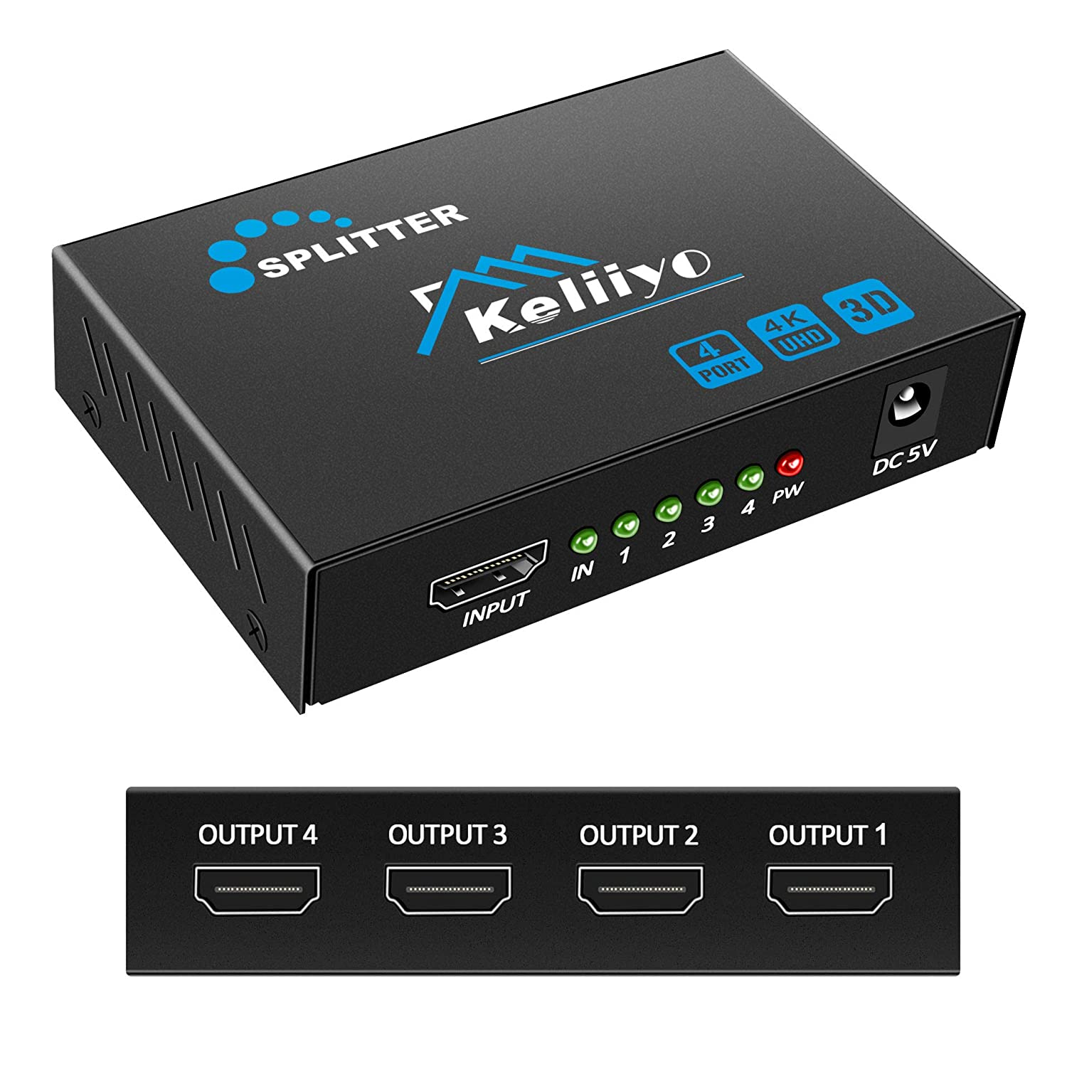 4K*2K Full HD HDMI Splitter Adapter 1 in 4 out Repeater Amplify Converter Cable