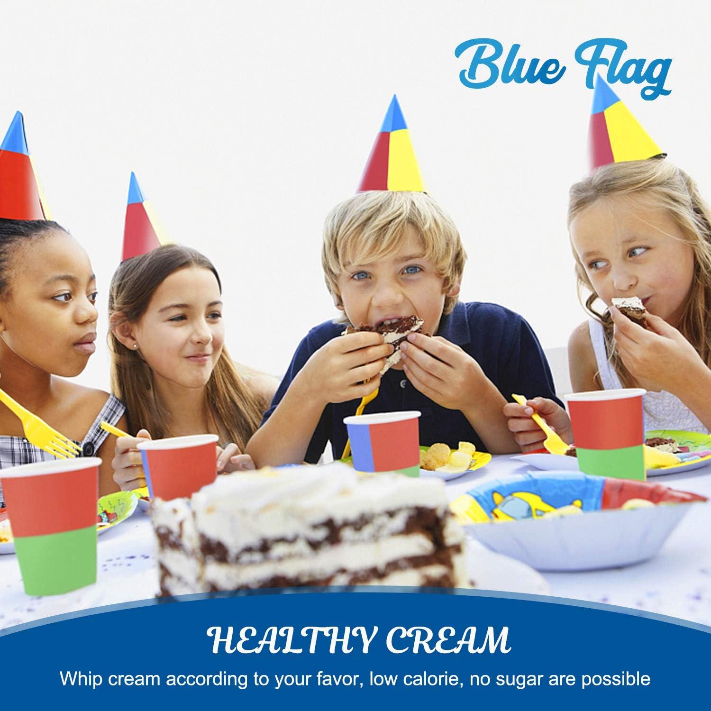 BLUE FLAG Whipped Cream Chargers N2O Nitrous Oxide 8-Gram Cartridge for Whipper Whipped Cream Dispenser 100 Packs