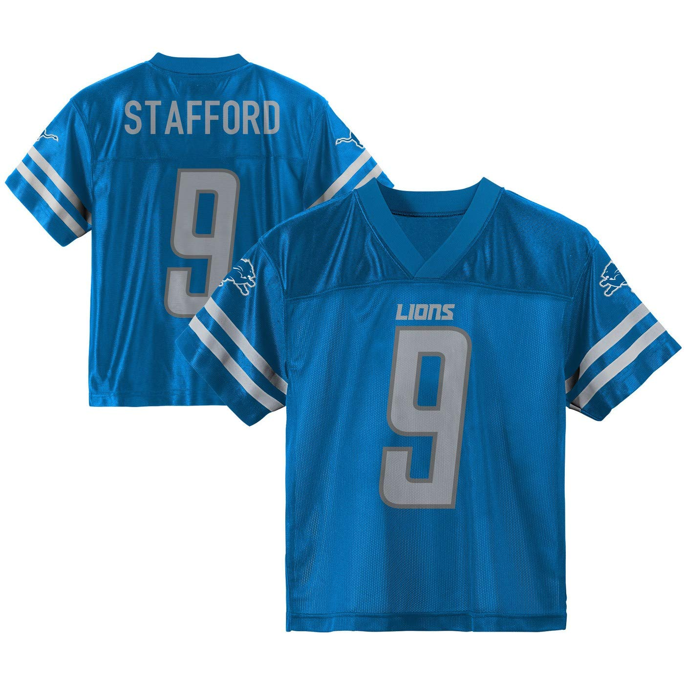 89512137c80 Amazon.com   Outerstuff Matthew Stafford Detroit Lions  9 Blue Youth Home  Player Jersey   Sports   Outdoors