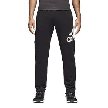 0e2b3654 adidas Men's Essentials Logo French Terry Pants, Black/White, S/P ...