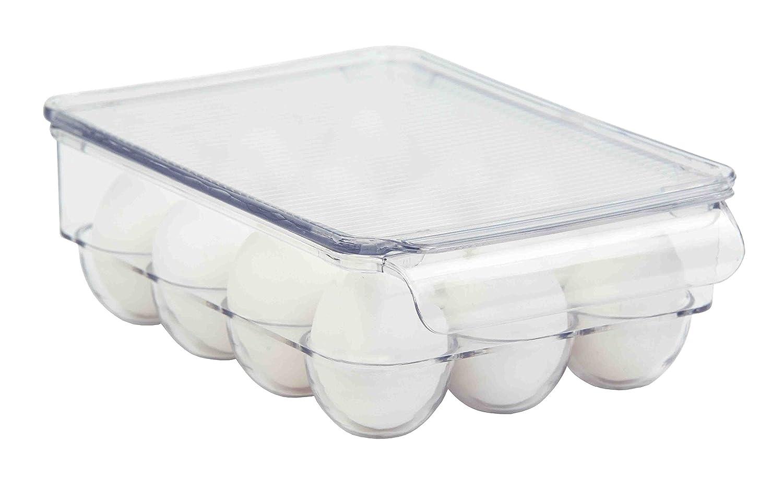 Home Basics Stackable Egg Holder for Refrigerator, Clear (12 Egg Holder)