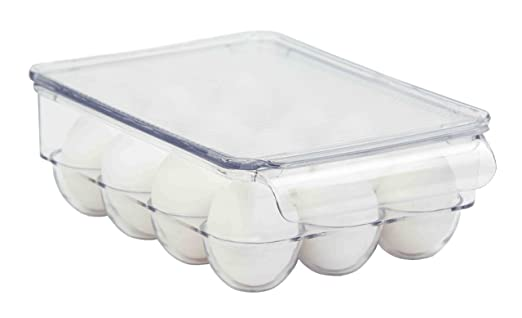 Home Basics apilable soporte para huevos para nevera, transparente ...
