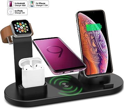 Amazon.com: VRURC - Soporte cargador inalámbrico para iPhone ...