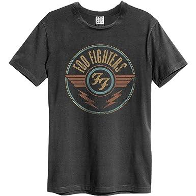 Amplified Herren Oberteile/T-Shirt Foo Fighters FF Air Grau S
