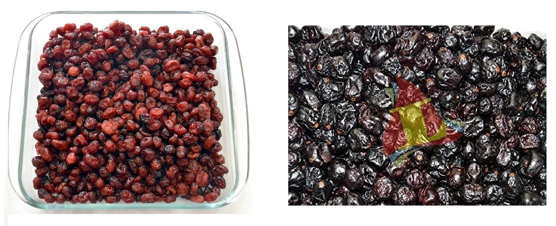 Leeve Dry Fruits Combo Pack Red Cranberries+Black Cranberries, 200 Grams