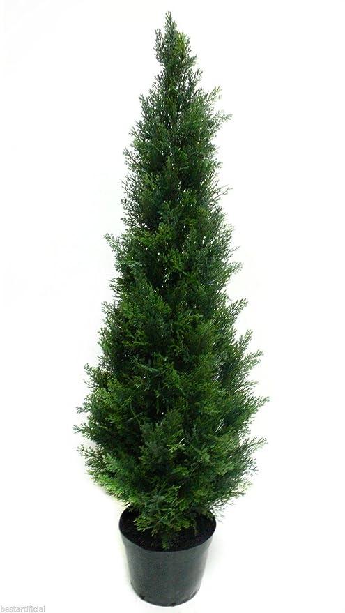 120cm 4 pies Mejor artificial Pino Cedro Ciprés Conifer ...