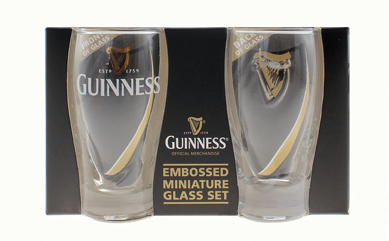 Guinness Mini Pint Shot Glass 2pk Guinness Official Merchandise GNS5098